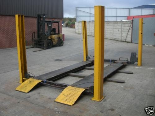 used 3 tonne 4 post bradbury 40 series vehicle lift rh garageequipmentshop com Bradbury Thompson Charlie Bradbury