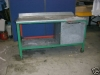 Mobile steel workbench