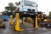 Set of 4 Bradbury 4 Tonne Mobile Column lifts 16 Ton Total Lift In Good Order